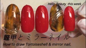 Tortoise shell & mirror nail