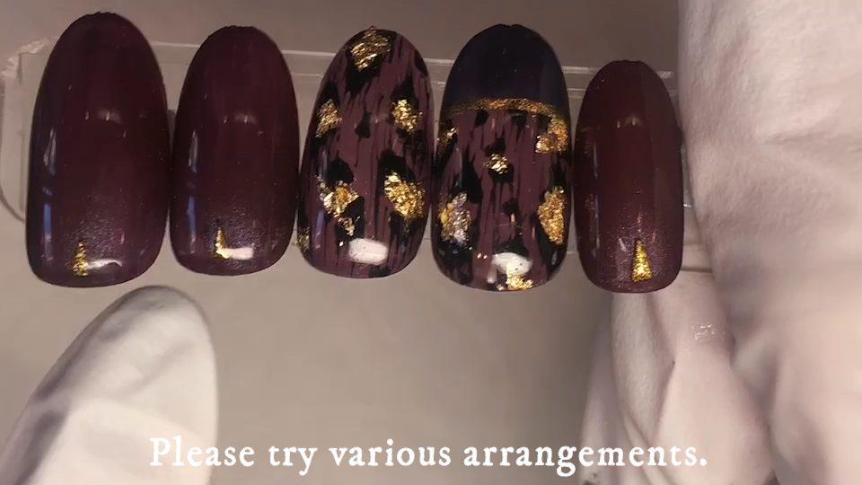 今年のヒョウ柄ネイル2020A/W Leopard print nail art