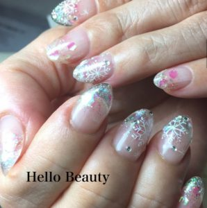 Crystal of snow nails